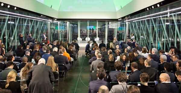 L'Expo Gate è la struttura presente in piazza Cairoli a Milano, dove c'è stata la premiazione delle startup finaliste del premio Marzotto.