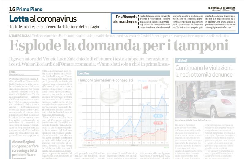 Tecnoline_Giornale di Vicenza